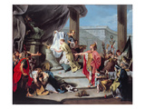 The Sacrifice of Polyxena, 1737 (Oil on Canvas) Giclée-tryk af Giovanni Battista Pittoni