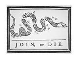 Join, or Die (Litho) Giclee-tryk i høj kvalitet af Franklin, Benjamin