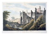 The East End of the Fort of Mongheer, 1787 (Aquatint) Giclee Print by William Hodges