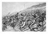 British Forces Attempt to Storm the French Fort of Ticonderoga in 1758 (Litho) Giclee Print by Frederic Remington