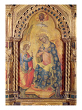 The Annunciation (Part of Polyptych) (Oil on Panel)
