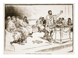 Hannibal in the Assembly in Carthage (Litho) Giclee Print by  English