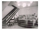 The Bar Torcy, Designed by Deschanel and J. Dussolier, 1920S (B/W Photo) Giclee Print by French Photographer
