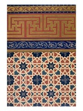 Pl 22 Architectural Decoration, Prob Mosaic Work, Inc Border, 19th Century (Folio) Giclee Print by  N. Simakoff