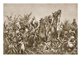 The Fighting Round Tientsin: Charge of the Japanese Cavalry Giclee Print by Richard Caton Woodville