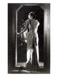 Dress Designed by Madeleine Vionnet (1876-1975) (B/W Photo) Premium Giclee Print by  Reutlinger Studio