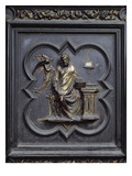 St Matthew the Evangelist, Panel B of the North Doors of the Baptistery of San Giovanni, 1403-24 Giclée-tryk af Lorenzo Ghiberti