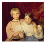 Children, 1834 (Panel) Giclee Print by Ferdinand Georg Waldmuller
