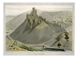 Corfe Castle, from 'A Voyage around Great Britain Undertaken Between the Years 1814 and 1825' Giclee Print by William Daniell