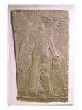 Eagle-Headed Winged Genius, Assyrian, Mesopotamian, 883-859 BC (Limestone) Giclee Print