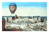 The First Flight of Pilatre Du Rozier's Hot-Air Balloon, Named after its Sponsor, M. Montgolfier Giclee Print by  French