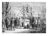 The 'Dartmouth' in Boston Harbour (Litho) Giclee Print by  American