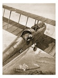 Lieutenant J.S. Scott Attacking a Railway Train When 1,000 Feet Above it (Litho) Giclee Print by W. Avis
