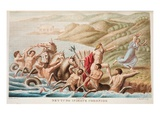 Neptune and Coronis, Book II, Illustration from Ovid's Metamorphoses, Florence, 1832 Giclee Print by Luigi Ademollo