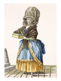A Market Lady Selling Her Wares, Engraved by Dupin, Plate No.5 Giclee Print by Pierre Thomas Le Clerc
