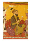 47.110/359 Gosain Narayan Takes Poison in the Presence of Emperor Jahangir, Nurpur, Pahari School Giclee Print by  Indian