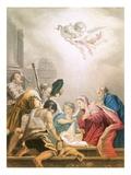 The Adoration Giclée-tryk af Domenico Fetti or Feti