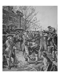 Bostonians Burning the Stamped Paper (Litho) Giclee Print by  American