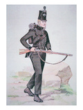 Private of the 95th Rifles, C.1810, Armed with the Baker Rifle, Designed by Ezekiel Baker of London Giclee Print by  English