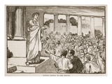 Scipio's Appeal to the People (Litho) Giclee Print by  English