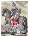 Roman Cavalryman of the State Army, Illustration from &#39;L&#39;Antique Rome&#39;, Engraved by Labrousse Giclee Print by Jacques Grasset de Saint-Sauveur