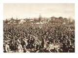 The Huge Volume of Italian Prisoners in the Collection Point at Cividale (B/W Photo) Giclee Print by  German photographer