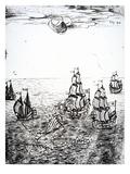 Shipwreck, 1694 (Engraving) Giclee Print by Othon-Frederic von der Groben