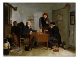 The Card Players, 1846 (Oil on Canvas) Giclee Print by Richard Caton Woodville