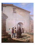 The Franciscan Friars of the Convento of Santa Maria De La Rabida Give Bread and Water Giclee Print by Antonio Cabral Bejarano