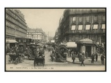 Postcard Depicting Rue Saint-Lazare in Paris, C.1900 (Photolitho) Giclee Print by  French Photographer