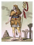 Standard Carrier, Illustration from &#39;L&#39;Antique Rome&#39;, Engraved by Labrousse, Published 1796 Giclee Print by Jacques Grasset de Saint-Sauveur