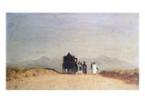 Travellers' Halt in the Roman Campagna, c.1868 Giclee Print by Jervis Mcentee