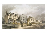 Group of Villas in Herne Hill, Camberwell (Colour Litho) Giclee Print by  English
