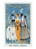 Les Trois Graces, 1918 (Colour Litho) Reproduction procédé giclée par Georges Barbier