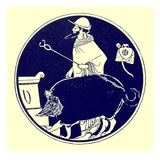 Hermes and the Masked Dog, Illustration from 'Greek Vase Paintings' Giclee Print by  English