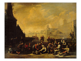 A Roman Forum with Figures Giclee Print by Johannes Lingelbach