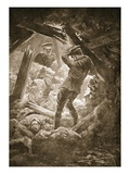 Second-Corporal Smith Propping Up Part of a Mine Gallery to Ensure the Rescue of His Comrades Giclee Print by W. Avis