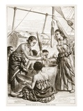 Pounding Millet on Board an English Cruiser Giclee Print by  English