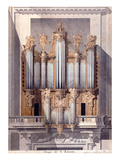 The Organ of Saint-Eustache, 1801 (W/C on Paper) Premium Giclee Print by  French