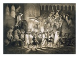 Delhi: Cortege and Retinue of the Great Moghul, from 'Voyages in India', 1859 (Litho) Giclee Print by A. Soltykoff