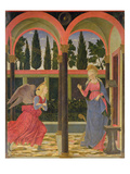 Annunciation, C.1457 (Tempera on Panel) Giclée-tryk af Alesso Baldovinetti