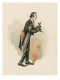 Mr Stiggins, Illustration from 'Character Sketches from Charles Dickens', C.1890 (Colour Litho) Giclee Print by Joseph Clayton Clarke