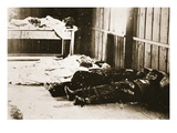 Mortuary from the Conflict, Anti-Semitic Uprising in Kishinyov, 1903 (Sepia Photo) Giclee Print by  Russian Photographer