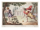 Atalanta and Hippomenes, Book X, Illustration from Ovid's Metamorphoses, Florence, 1832 Premium Giclee Print by Luigi Ademollo
