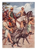 Pelopidas Setting Out for Thebes, Illustration from 'Plutarch's Lives for Boys and Girls' Giclee Print by William Rainey