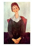 Girl in Black, 1918 Giclee Print by Amedeo Modigliani
