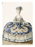 Grand Ball Gown of the Royal Court, Engraved by Le Roy, Plate Giclee Print by Pierre Thomas Le Clerc