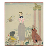 Rendez-Vous (W/C on Paper) Giclee Print by Georges Barbier