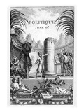 Frontispiece of ' Politique', Tome Ii of Jean-Jacques Rousseau (Engraving) Giclee Print by Jean Claude Naigeon
