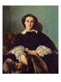 Portrait of the Contessa G. Tempestini, 1854 (Oil on Canvas) Giclee Print by Antonio Puccinelli